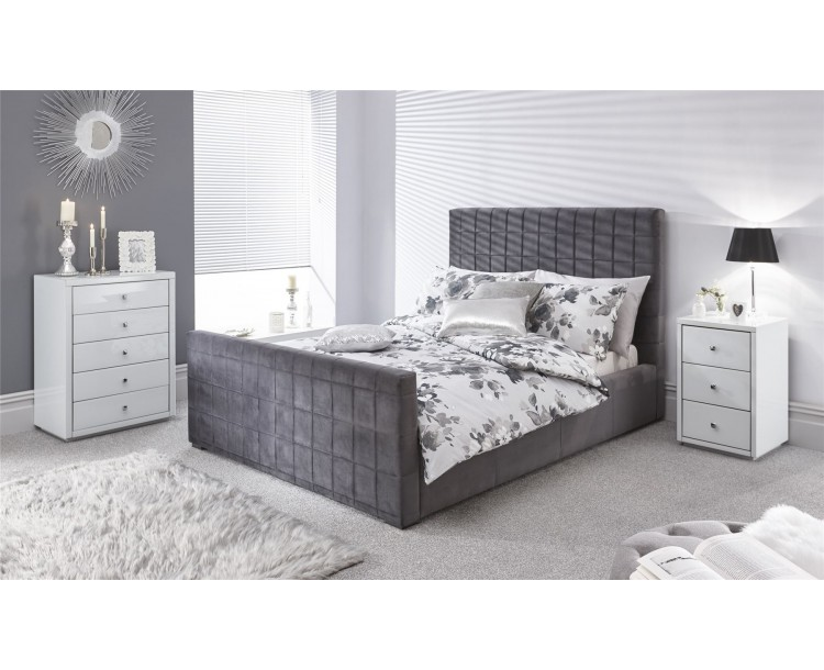 Delaware 135cm Ottoman Bed Pewter