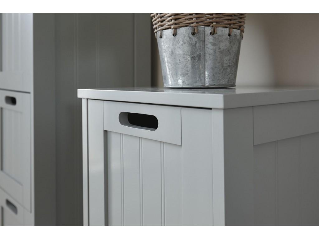 Grey Colonial Style 2 Drawer Bathroom Slim Chest Storage Unit