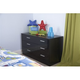 Ottawa 3 3 Drawer Chest Bedroom Furniture Black