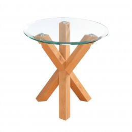 Oporto Lamp Table with Oak Legs