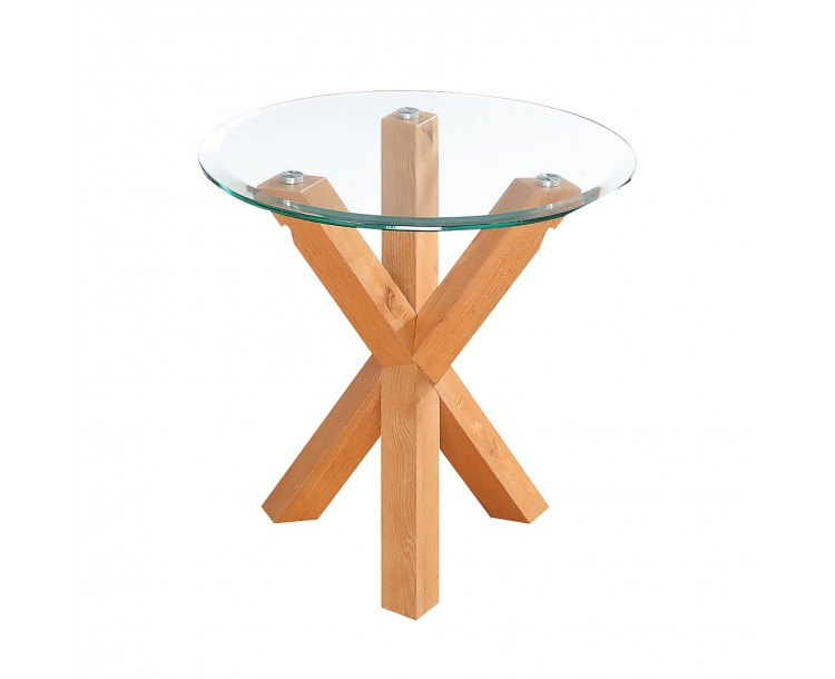 Oporto Lamp Table with Oak Legs