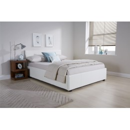 4ft Small Double Side Lift Ottoman 120CM Bed Bedframe White