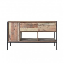 Vintage Plank Effect Stylish Hoxton TV Media Unit
