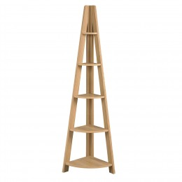 Tiva Corner Ladder Shelving Oak