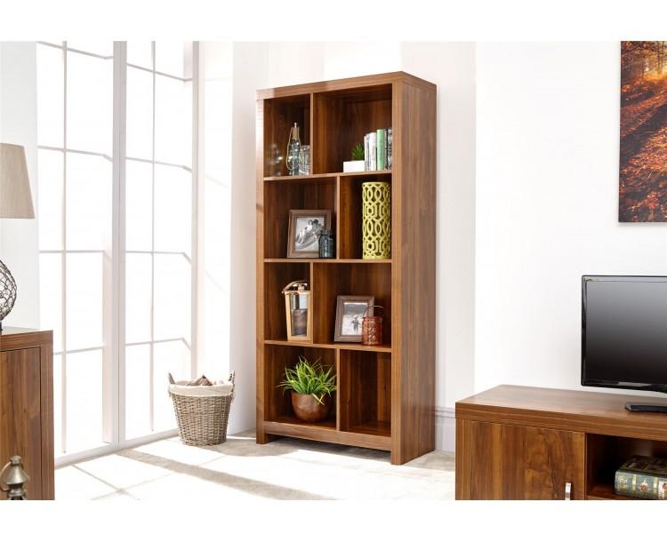Modern Living Room Hampton Acacia Tall 8 Shelf Display Storage Unit