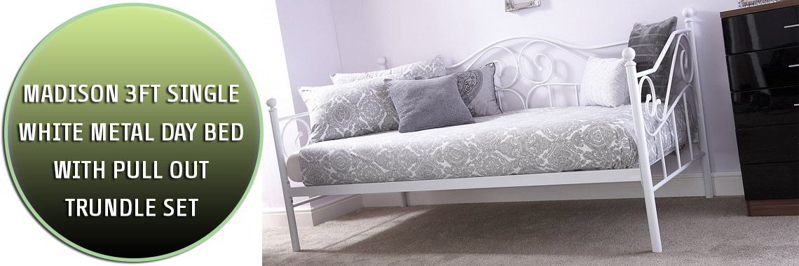 Madison Metal bed with trundle