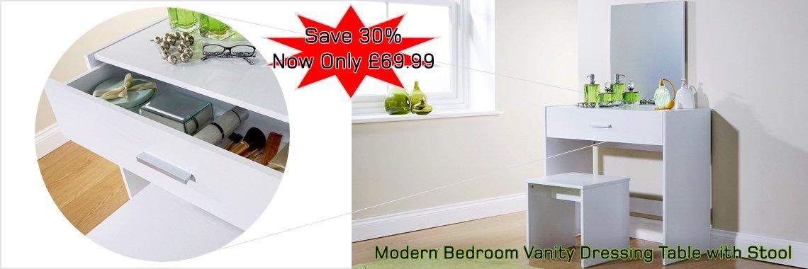 Julia Modern Bedroom Vanity Dressing Table