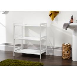 Bergen Style Modern White 3 Tier Open Shelf Unit