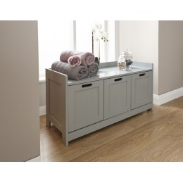 Classic Colonial Grey 3 Door Bathroom Storage Unit