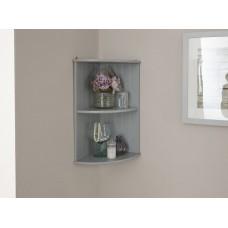 Colonial Corner Wall Shelf Unit with Grey finish
