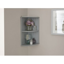 Colonial Corner Wall Shelf Unit with Grey finish