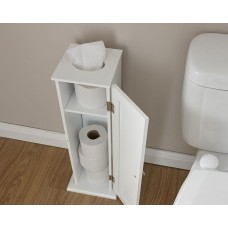 Colonial Toilet Roll Cupboard in White