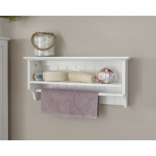 Colonial Towel Rail Shelf with White finish