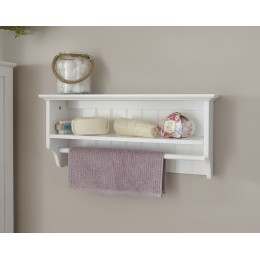 Colonial Towel Rail Shelf with White or Grey finish
