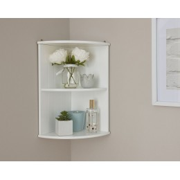Colonial Corner Wall Shelf Unit with White finish