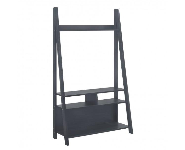 Tiva Black Ladder Living Room TV Unit