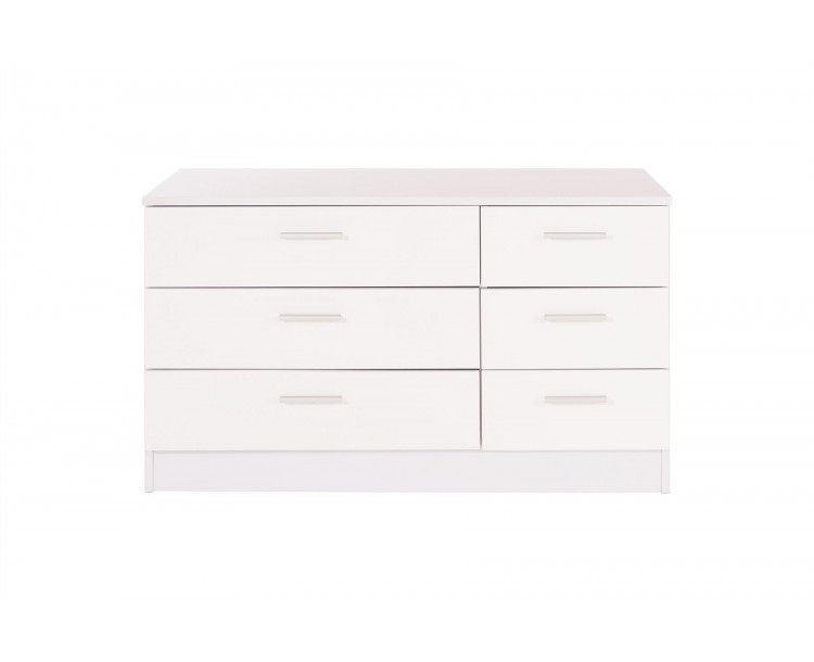 Ottawa Range 3 3 6 Drawers White Gloss Chest Of  Table Cabinet Storage