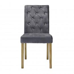 Paris Chair Silver Velvet Pack of 2