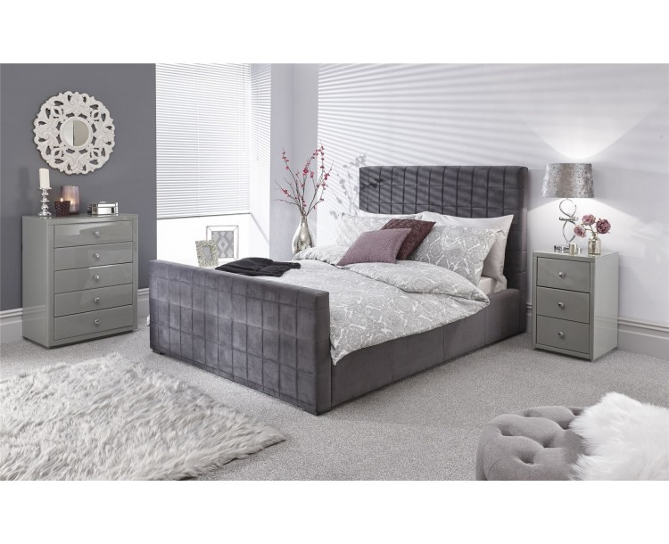 Delaware 150cm Ottoman Bed Pewter