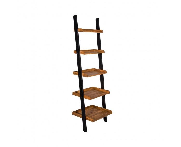 Copenhagen Black Painted Finish Compact Ladder Shelf
