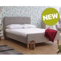 Ashbourne Wood 4ft6 Double Bedstead in Light Grey