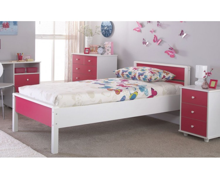 Miami Pink Wooden 3FT Single Bedstead
