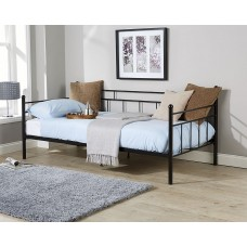 Arizona Day Bed Black French Style Metal Bedframe 3FT