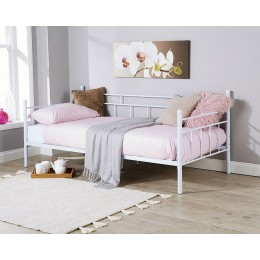 Arizona Day Bed White French Style Metal Bedframe 3FT