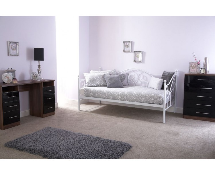 Modern French Style Madison White Day Bed Frame