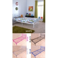 Morgan 3ft Single High Quality Metal Beds In Various Colours