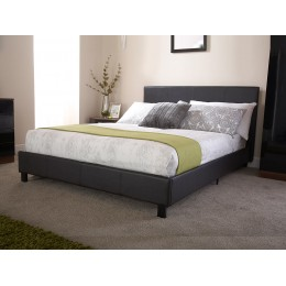 Seattle Faux Leather Bed In All Sizes Black & White
