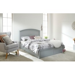 Classic Grey 4ft6 Double Madrid Ottoman Lift Up Storage Bed