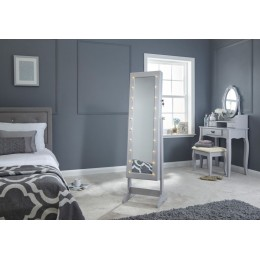 Grey LED Illuminating Amore Jewellery Storage Cabinet