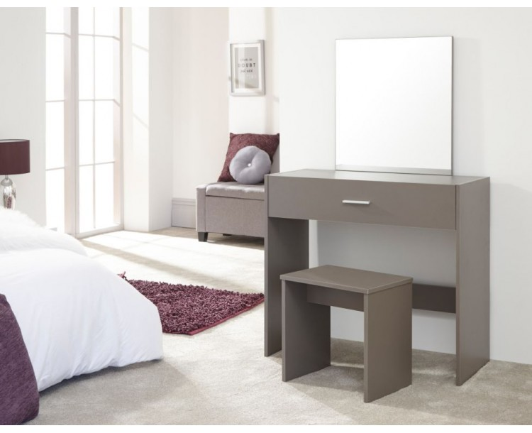 Contemporary Grey Julia Dressing Table and Stool Set
