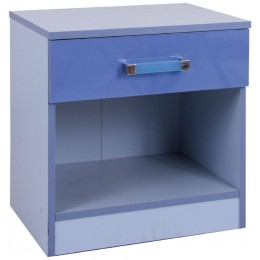 Madrid Children's High Gloss Two Tone Blue Bedside Cabinet
