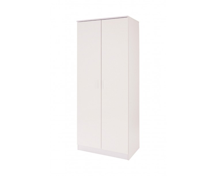 Madrid 2 Door Wardrobe High Gloss White & White Oak Frame