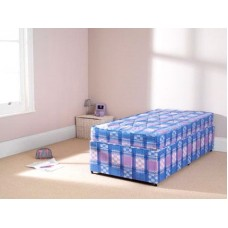 Economy Budget Starter 4FT6 Mattress Blue and White