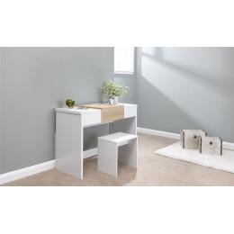 Marlow Dressing Table Set White   Oak Top