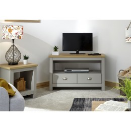 Lancaster Living Room Corner TV Unit Grey