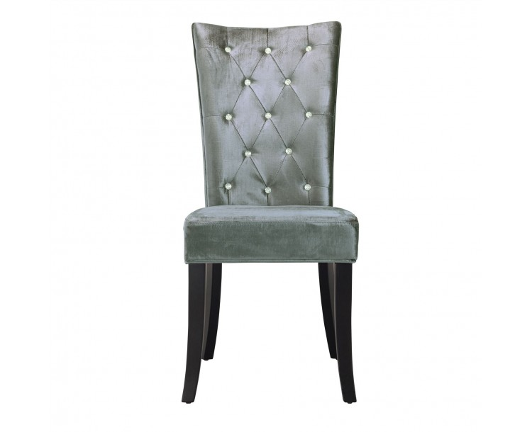 Radiance Dining Chair Silver Velvet Pack of 2
