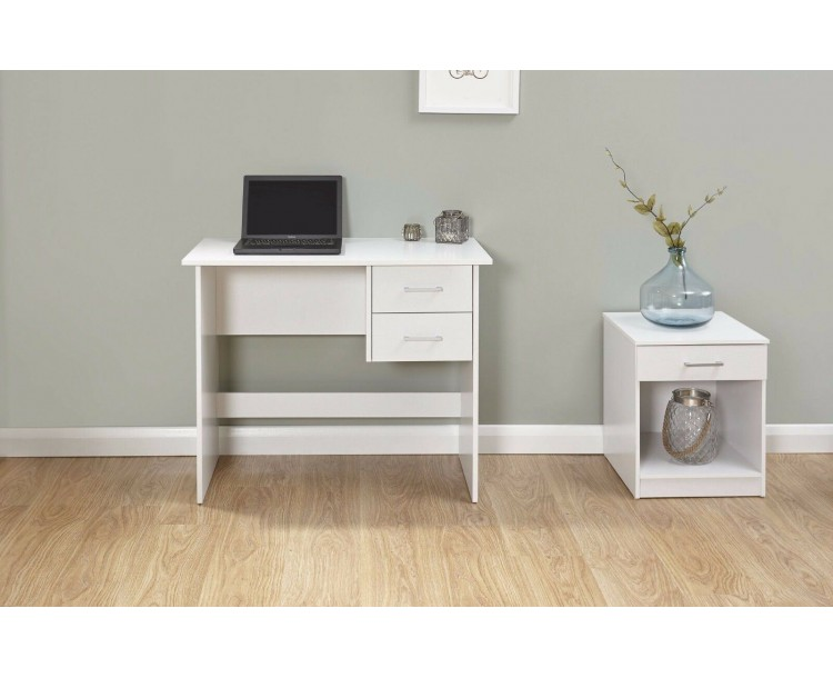 Modern Panama Desk Table Living Room Office Furniture Laptop White