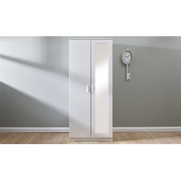 Melbourne 2 Door Mirrored Wardrobe Bedroom Furniture White   White