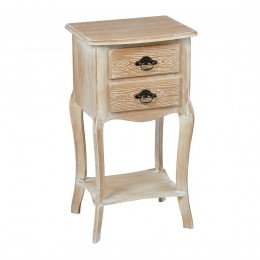 Provence 2 Drawer Bedside Table Weathered Oak