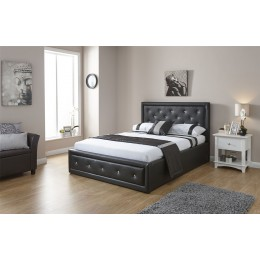 Hollywood 4ft6 Double Bed 135cm Bedframe Gas Lift Black