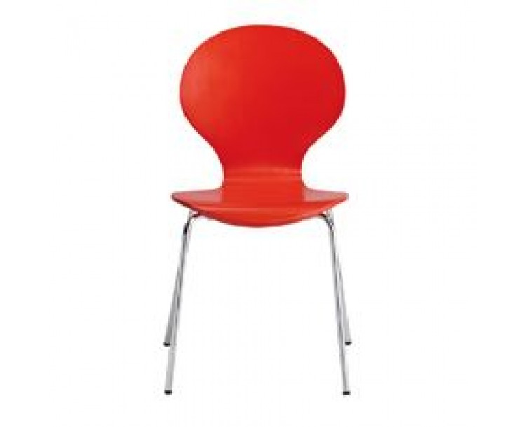 Ibiza Dining Chair Red Pack of 4