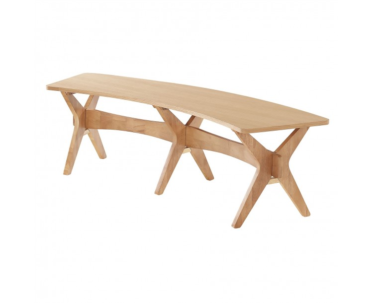 Malmo White Oak Contemporary Bench