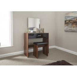 Ottawa Dresser & Stool Dressing Table Bedroom Furniture Walnut