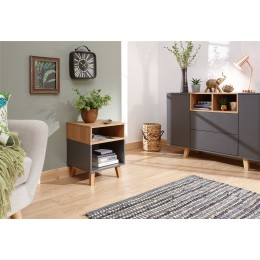 Modena Stylish Lamp Table Grey