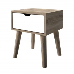 Scandi Oak White Finish Lamp Table