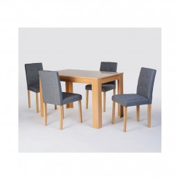 Norfolk Oak Traditional Wood Dining Set